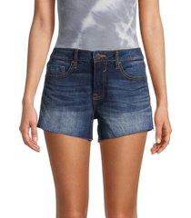 vigoss women's marley mid-rise denim cutoff shorts - medium wash - size 24 (0)