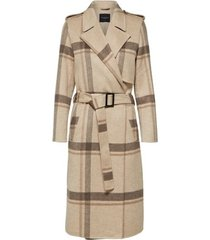slftana ls check coat b outerwear