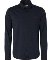 no excess overhemd stretch blauw slimfit 11410280/078