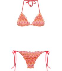 brigitte knit bikini set - red
