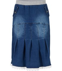 gonna di jeans con occhielli (blu) - bpc bonprix collection