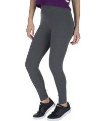 calça legging oxer cotton - feminina - cinza escuro