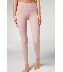 calzedonia active leggings woman pale pink size s