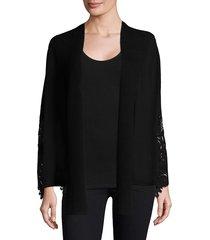 kobi halperin women's benita merino wool lace cardigan - black - size s