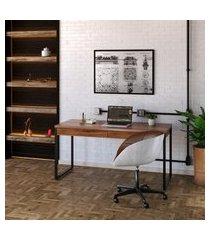 mesa de escritório kuadra 2 gv nogal 150 cm