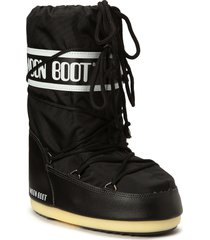moon boot nylon shoes boots ankle boots ankle boot - flat svart moon boot