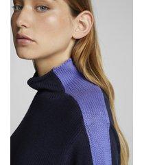 maglione con intarsio