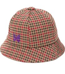 needles houndstooth bermuda hat - blue