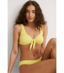 trendyol rutig bikiniöverdel - yellow