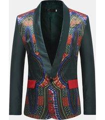 blazer formale stampa fantasia stile africano