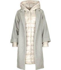 tweedelige jas burgundy  grijs