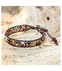 agate wristband bracelet, 'couple in love' (thailand)