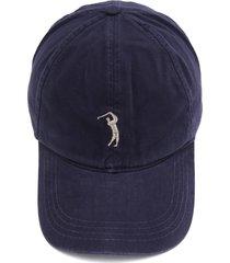 boné aleatory logo azul-marinho