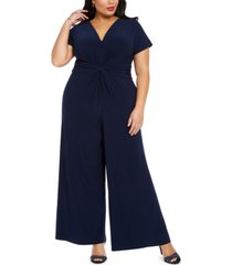 vince camuto plus size v-neck jumpsuit