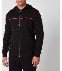 hugo men's dapie zip sweatshirt - black - xl