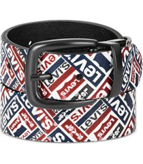 levi's big boys graphic print to reversible casual belt
