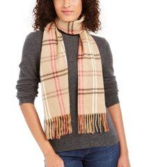 cejon plaid fringe italian scarf
