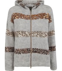 brunello cucinelli sequin embellished hoodie