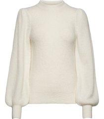 soft wool knit gebreide trui wit ganni