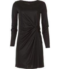 jurk met plooidetails karly  zwart
