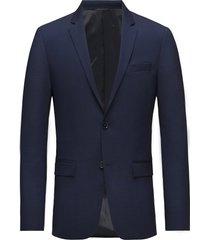 stretch wool slim su blazer colbert blauw calvin klein