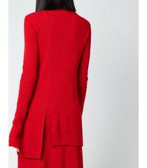 kenzo women's asymmetrical tunic jumper - medium red - l