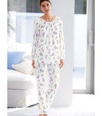 pyjama met bloemornamenten van hutschreuther wit