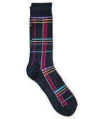 jos. a. bank comfort luxe grid pattern socks, 1-pair