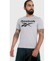 camiseta gris-negro reebok workout ready supremium