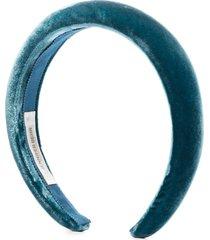 jennifer behr tori velvet headband - blue