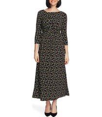 women's chaus dewy florets ruched maxi dress