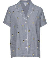 pj shirt in poplin top blå gap