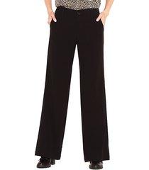 pantalón wados flare negro - calce holgado