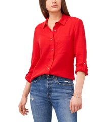 1.state women's long sleeves button collared shirt