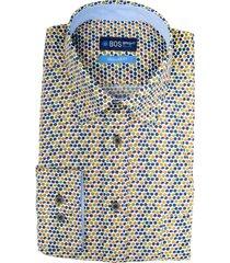 bos bright blue ward shirt casual hbd 20307wa53bo/500 multicolour
