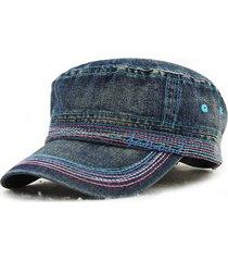 cappello di cotone delle donne degli uomini di modo cappellini superiori del ricamo cappello militare esterno casuale