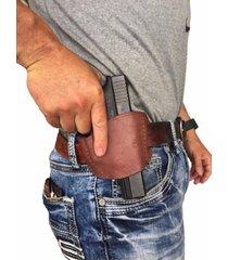 ruger sr40 /genuine right handed brown leather owb belt gun holster