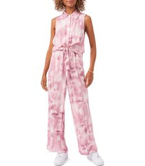 vince camuto sleeveless tie waist jumpsuit, size small in corsage pink at nordstrom