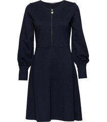 dress short 1/1 sleeve knälång klänning blå betty barclay