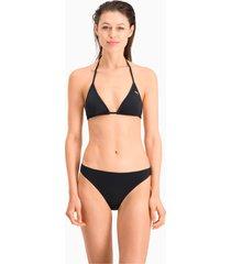 puma swim klassiek bikinibroekje voor dames, zwart, maat l