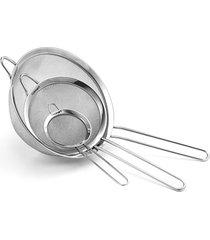 conjunto de 3 peneiras em aço inox cuisinart