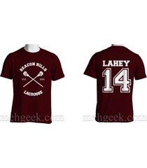 lahey 14 isac cross beacon hills lacrosse teen wolf men tee maroon s to 3xl