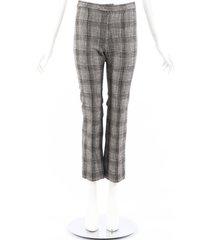 isabel marant derys black gray plaid tweed ankle pants black/gray sz: xs
