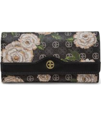 giani bernini floral signature receipt wallet, created for macy's