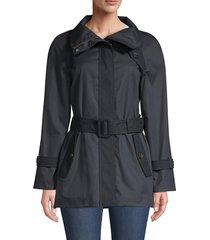 mackage women's iva belted coat - navy - size xl