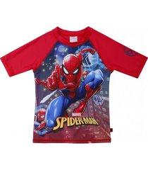 polera traje de baño uv50 rojo spiderman