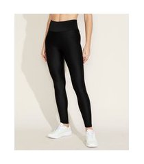 calça legging feminina esportiva ace cintura alta texturizada preta