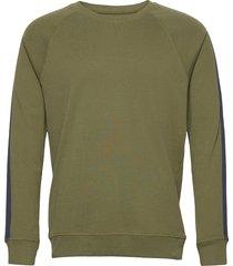 cotton rib stelt tape sweat-shirt trui groen mads nørgaard