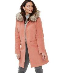 korte coat met fake fur