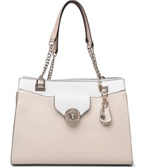 belle isle society carryall bags top handle bags crème guess